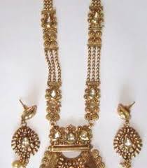Buy Kundan Embellished Dangler Earrings Buy Royal Tradional Antique Golden Stone Studded Handmade Hanging