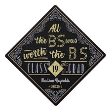 graduation cap toppers college graduation bachelors degree bs name graduation cap