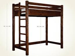 East Canyon Twin Size And Extra Long Twin Platform Loft Bed - Extra long bunk bed
