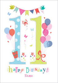 send personalised 11th birthday cards funky pigeon