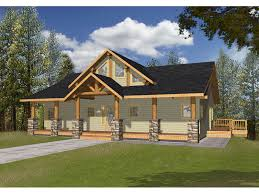 large front porch house plans bonanza a frame cabin lake home plan 088d 0346 house plans and more