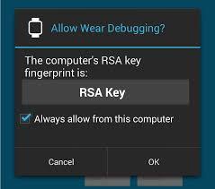 android wear enable debugging take screenshots unlock