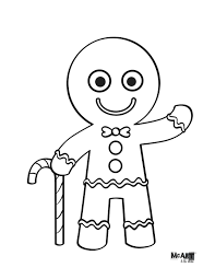 coloring pages gingerbread man template printable gingerbread