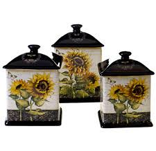 sunflower canister sets kitchen sunflower canisters ebay