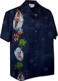pacific legend men u0027s santa and snowflakes christmas hawaiian shirt