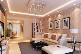decor chandelier and wallpaper with interior partition wall ideas