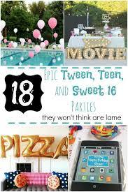 Sweet 16 Dinner Party Ideas Best 25 Teen Birthday Parties Ideas On Pinterest Birthday