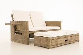 natura sofa clp poly rattan outdoor sofa ancona 2 seater 5 mm thick