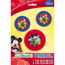 mickey mouse decorations mickey mouse clubhouse paper fan decorations 3ct