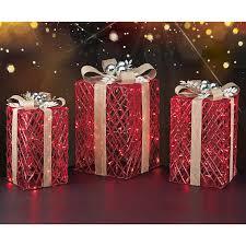 decorative led gift boxes set of 3