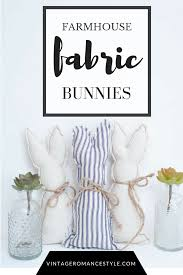 fabric bunny silhouettes vintage romance style