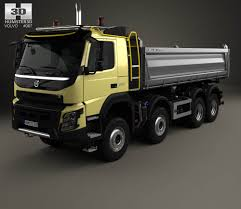 2013 volvo truck commercial volvo fmx tipper truck 2013 3d model hum3d