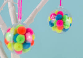 make your own pom pom baubles let s do something crafty