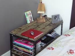 table basse touret bois une table basse ou de chevet industrielle indus home factory