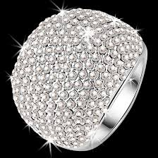 crystal pave rings images 15 row swarovski crystal pave set sparkle dome cocktail ring jpg