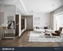 Kitchen Room Interior Design Modern Urban Contemporary Living Room Hotel Stock Illustration