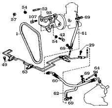 page 099 land cruiser power steering box pump brackets belts