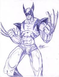 wolverine pen sketch by foreverzerodragon on deviantart
