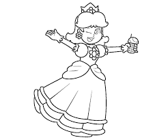 online princess daisy coloring pages 38 on coloring site with
