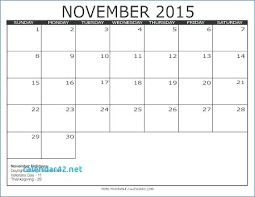 printable november 2013 thanksgiving calendar