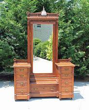 Antique Dresser Vanity Oak Antique Dressers U0026 Vanities 1900 1950 Ebay