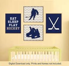 Sports Nursery Wall Decor Hockey Wall Decor Hockey Wall Decal To Go To Sleep I Count Goals