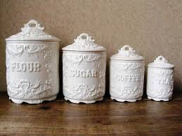 ceramic canisters for the kitchen charming white ceramic kitchen canisters inspirations and storage