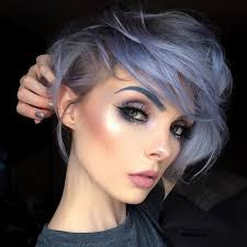 what kind of hair is used for pixie braid beautsoup grey blue lilac lavender silver hair color pinterest