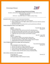 Reverse Chronological Resume Example by 7 Reverse Chronological Resume Bibliography Formated
