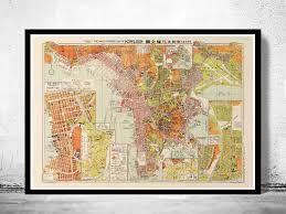 Map Of Hong Kong China by Vintage Old Map Of Hong Kong Kowloon 1957 China