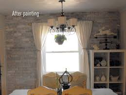Painting Over Paneling by Painting Bricks Is Easy The Creative