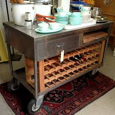 kitchen island industrial kitchen cart roots rack natural crosley