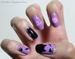 kitty cat nail design sally hansen hard as nails no hard