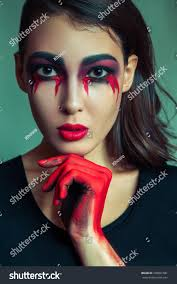 portrait freak monster mess dirty colored stock photo 330891581