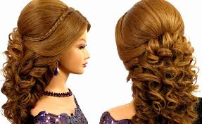 prom hairstyles for medium hair romantic bridal prom hairstyle for long hair tutorial youtube