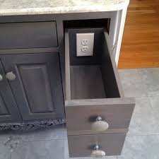 making the utility drawer more useful outlet hidden inside drawer