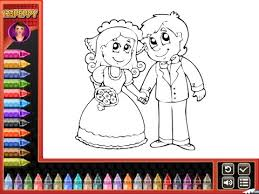 bride groom coloring pages kids bride groom coloring
