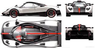 pagani drawing the blueprints com blueprints u003e cars u003e pagani u003e pagani zonda