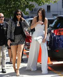 kendall jenner jumpsuit kendall jenner shines in jumpsuit while kendall sports