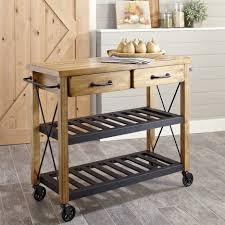 kitchen attractive kitchen island cart metal with brown