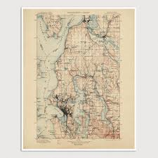 Map Of Seattle Usgs Topographic Map Of Seattle 1897 U2013 Blue Monocle