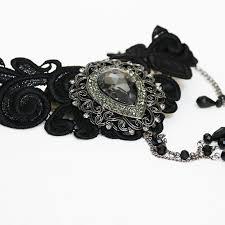 black large necklace images Black victorian choker necklace handmade victorian bridal jewellery jpg