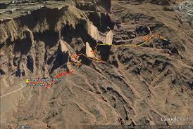 Moab Utah Map by On A Hike The Fisher Towers Moab