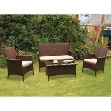 Kendal Rattan  Piece Conservatory Set Garden Furniture Set Buy - Rattan furniture set