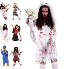 scary ladies bloody zombie costume walking dead cosplay halloween