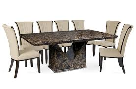 Amazing Dining Table And  Chairs Large Dining Table Leather - Black dining table for 10