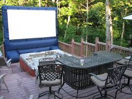 Backyard Outdoor Theater by Deckoplex Pics Backyard Theater Forums