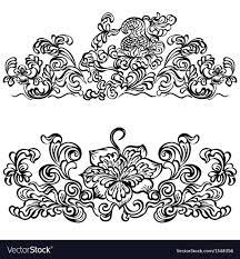 design ornament floral motifs royalty free vector image