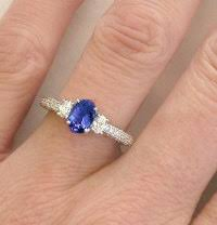 tanzanite engagement ring antique tanzanite engagement ring and wedding band in 14k