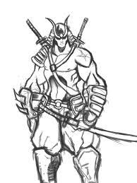 samurai sketch by huazon on deviantart
